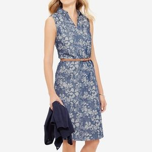 The Limited Floral Chambray Ashton Shirtdress, XS